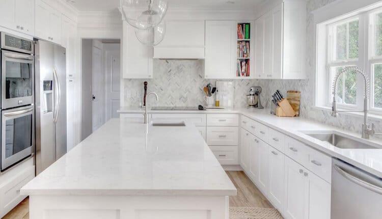 انواع کابینت سفید آشپزخانه